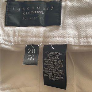 Sanctuary Shorts - Sanctuary White Bermuda Shorts